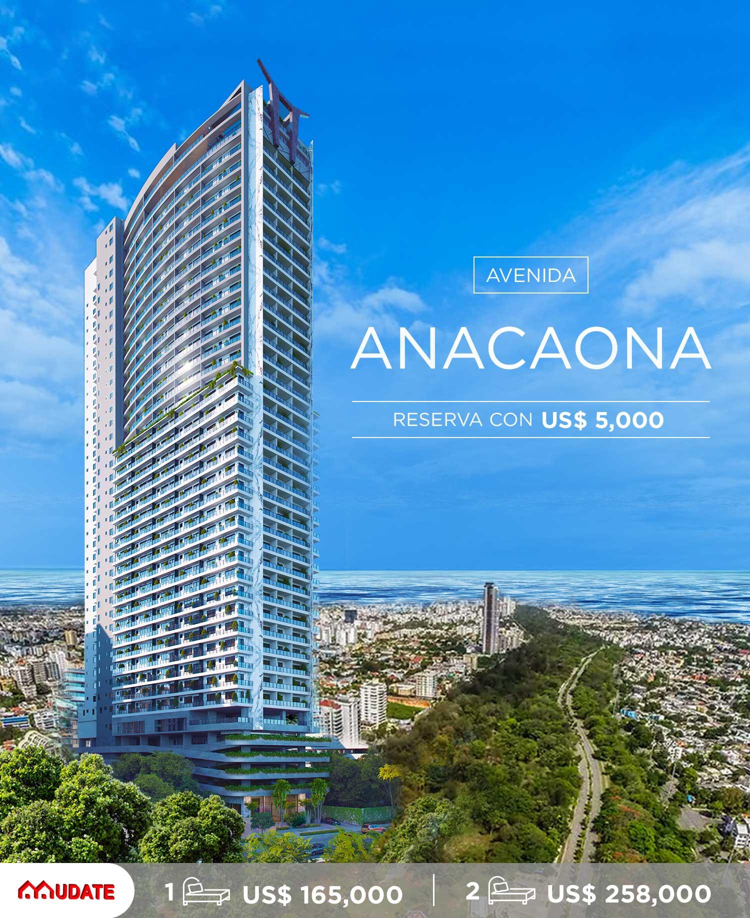 Proyecto de rascacielos en la Av. Anacaona